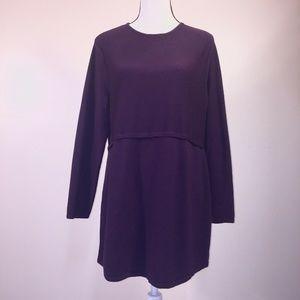 J. Jill Sweater Tunic GRACE Purple L Thin Knit